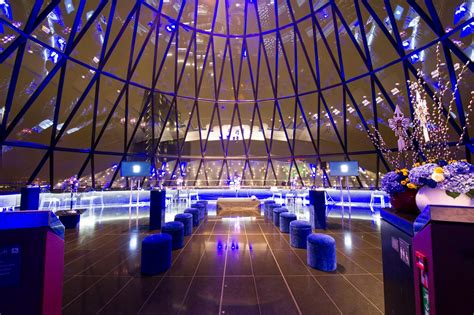 bar at the top of the gherkin venue hire searcys the gherkin evolve events