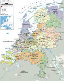 netherlands map political map of netherlands ezilon maps