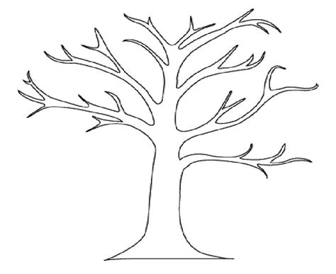 free coloring pages of a bare tree
