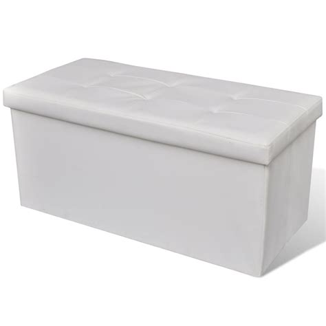 White Storage Bench Foldable Storage Bench White Www Vidaxl Au