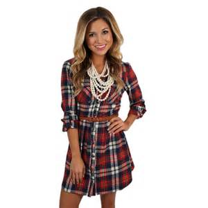 Southern comfort flannel dress in red impressions online women s