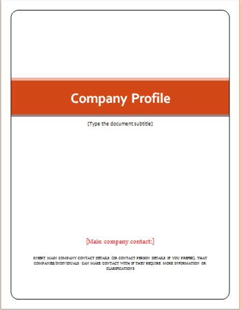 Sle Template For Company Profile 28 company profile template word free doc 741348 company