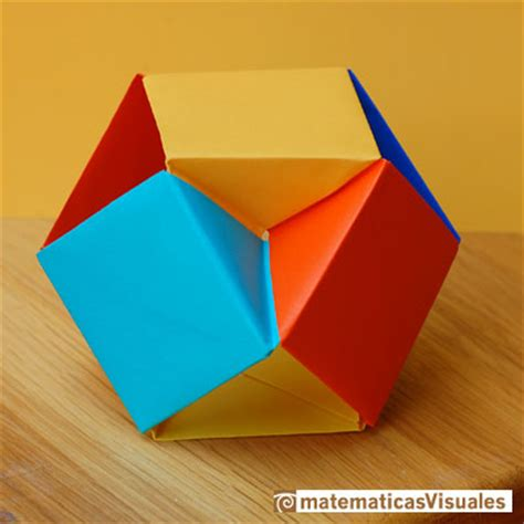 Cuboctahedron Origami - matematicas visuales the volume of a cuboctahedron