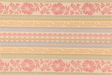 pastel upholstery fabric 7 7 yards floral stripe upholstery fabric in pastel