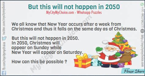 new year two week but this will not happen in 2050 puzzle answer