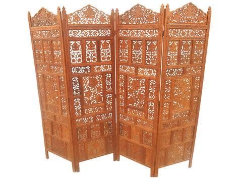 carved wood room divider solid teak carved room divider chairish