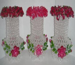 Bunga Mawar Mute Ukuran Sedang besthappycraft vas bunga balutan manik akrilik yang indah