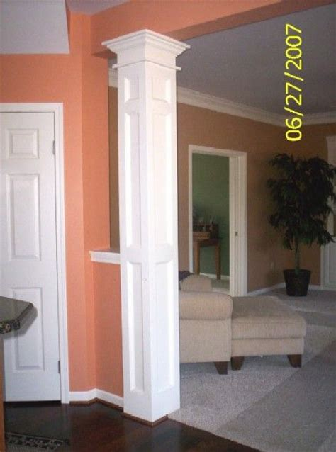 interior columns as interior columns custom trim