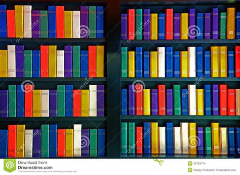 Bookcase Clipart Books On Library Shelves Stock Images Image 33793774