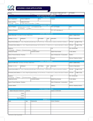 ucpb housing loan application form loan calculators forms and templates fillable printable sles for pdf word