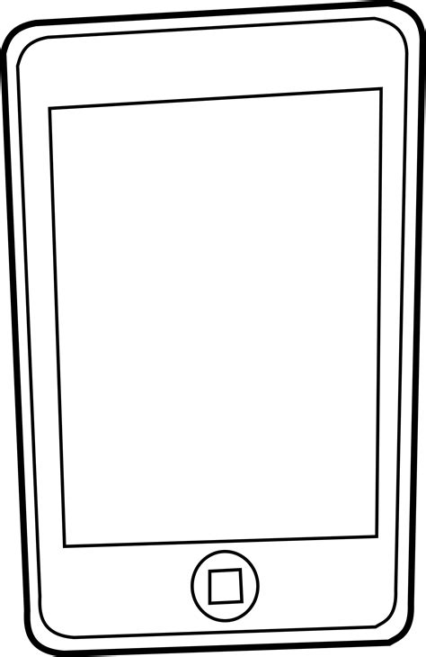 coloring pages on ipad cell phone mobile phone clipart black and white clipart