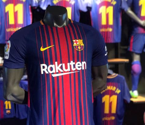 Jersey Fc Barcelona Home 2017 2018 new barca jersey 2017 2018 nike fc barcelona home 17 18 football kit news new soccer