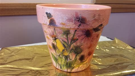 Decoupage Flower Pots - decoupage on a flower pot decoupage designs usa