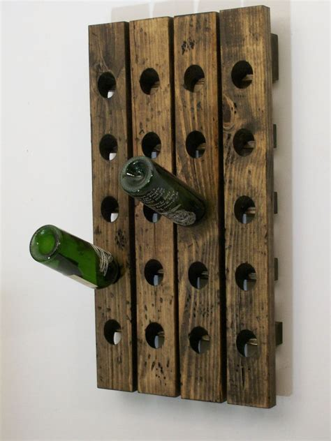 Handmade Wooden Wine Racks - wine riddling rack distressed wood handmade wall hanging