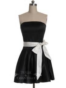 Dresses pretty little black short bridesmaid dress with white belt