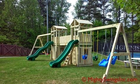 giant swing set mighty giant l mighty swings play systems l