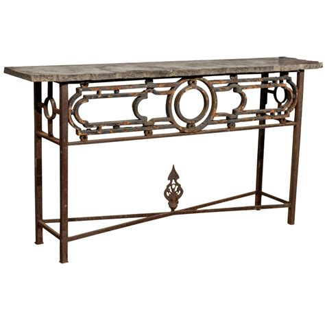 Iron Console Table For Sale At 1stdibs Iron Sofa Table