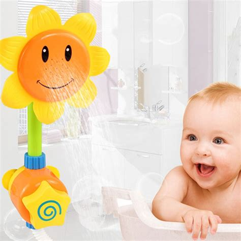 bathtub for children 3pcs lot children s cartoon sunflower shower faucet bath