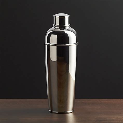 Shacker Stainless Steel easton stainless steel cocktail shaker crate and barrel