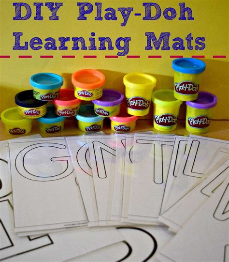 learning with play doh diy learning mats worldplaydohday
