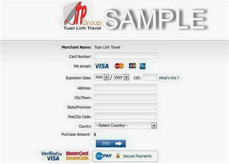 How To Pay Online With Visa Gift Card - online payment for vietnam travel services