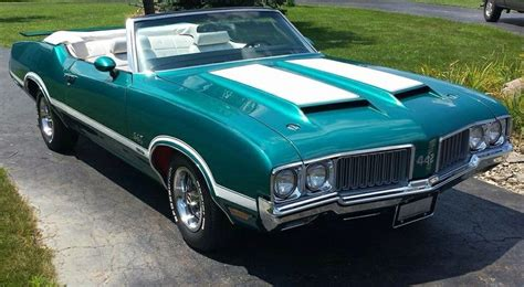 1970 olds 442 convertible special order aegean aqua oldsmobile cutlass paint