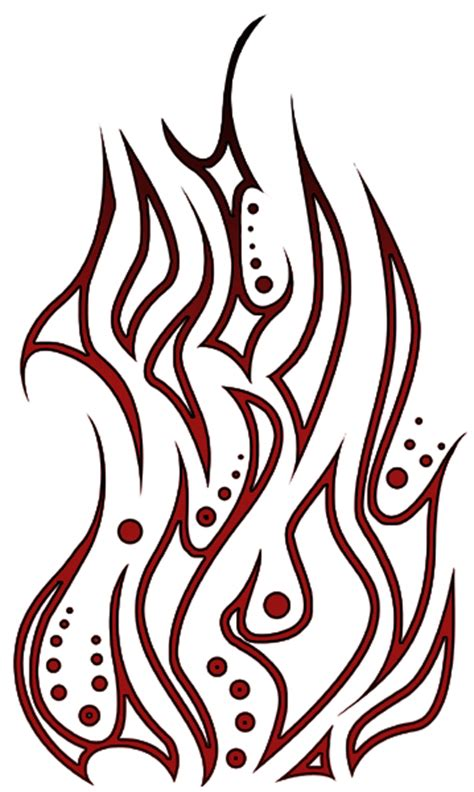 tribal flame pictures cliparts co