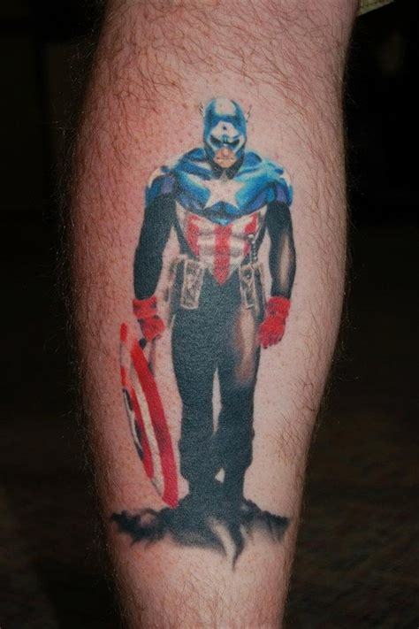 captain america tattoos 35 captain america designs for and