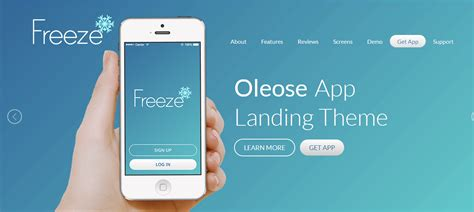 bootstrap themes oleose 11 free bootstrap landing page templates