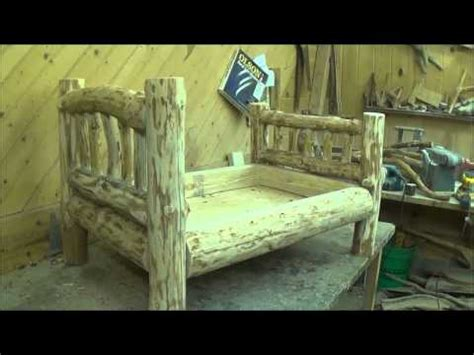 how to make a log bed building the log dog bed youtube