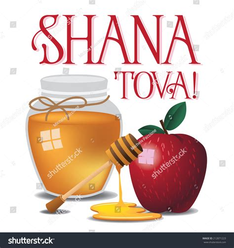 happy new year in hebrew shana tova shana tova happy new year isolated eps 10 vector