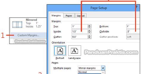 Cara Membuat Nomor Halaman Mirror | cara membuat dan mendesain template untuk dokumen yang