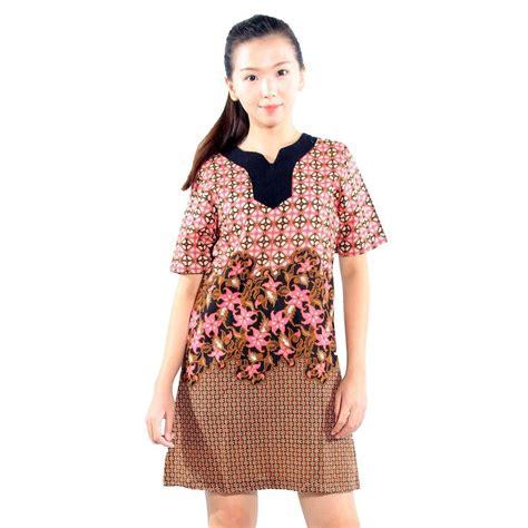Harga Baju Merk Giordano jual batik aksen baju batik dress batik wanita pink basic