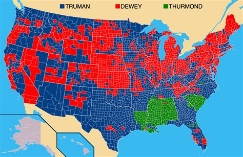 map of usa votes by county file us election 1948 counties png