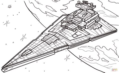 Star Wars Coloring Pages Star Destroyer | star destroyer coloring page free printable coloring pages