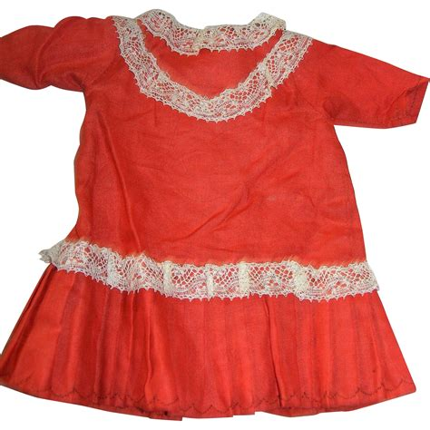 how to clean a bisque doll burnt orange cotton dress for bisque dolls from