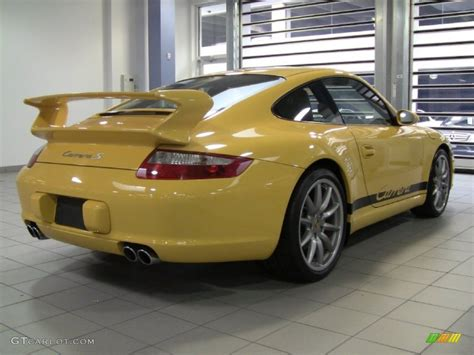 porsche 911 s 2006 speed yellow 2006 porsche 911 s coupe exterior