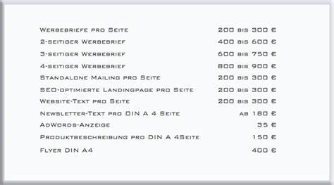 Vorlage Angebot Designleistung Texter Honorar Werbetexter Kosten Texter Preise Werbung Kosten Seo Preise Freier Texter