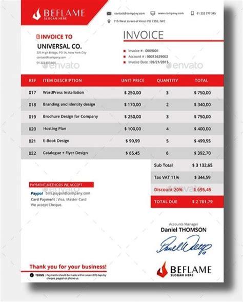 desain invoice template  colors premium