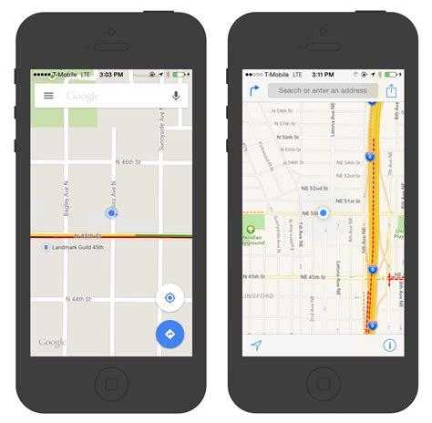 design google maps interview appleとgoogleのマップアプリに見るuxデザイン思想の違いを徹底比較 gigazine