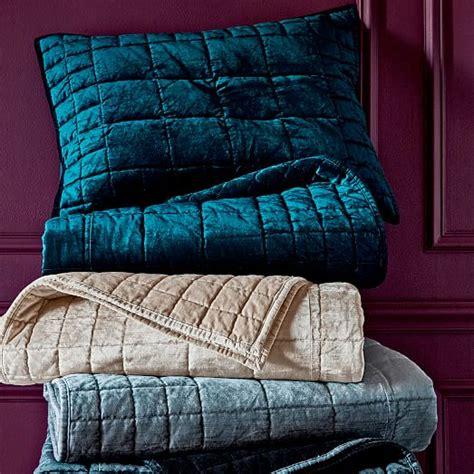 Velvet Quilt Washed Cotton Luster Velvet Quilt Shams Platinum