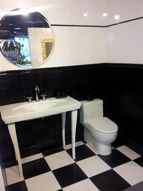 Bathroom Tile Displays Bianco Nero Bathroom Tile Display Modern Black And White
