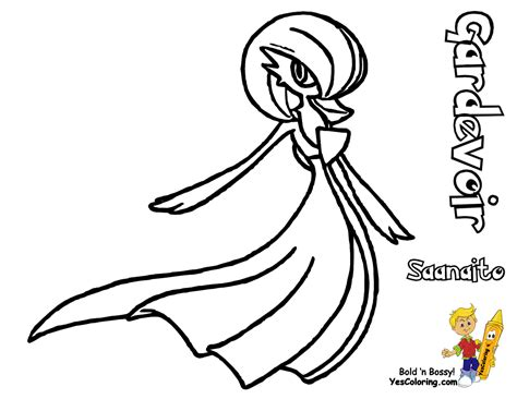 Pokemon Coloring Pages Gardevoir | free coloring pages of gallade gardevoir