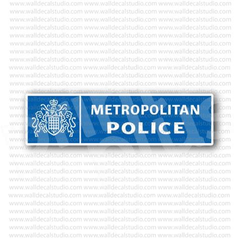 Removable Wall Stickers Uk from 4 50 buy metropolitan police service uk sticker at