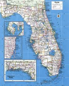 large detailed administrative map of florida state with