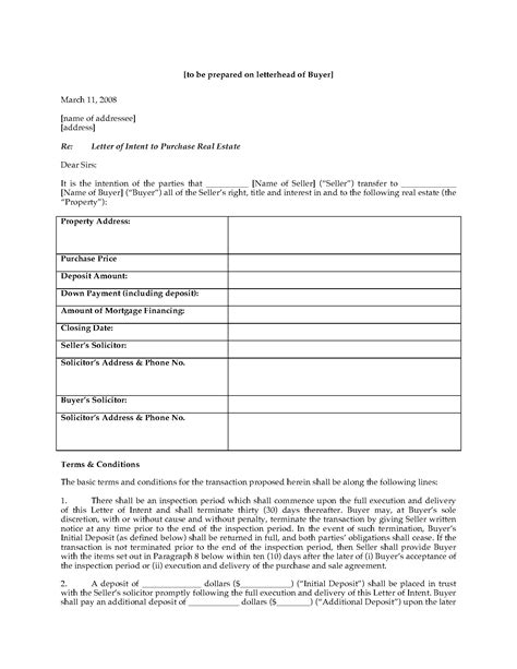 Letter Of Intent To Buy Foreclosed Property Letter Of Intent For Mortgage Obbosoft