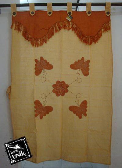 Tirai Benang Motif Kupu Kupu Cantik Murah gorden jendela tenun motif kupu tari tirai jendela murah batikunik