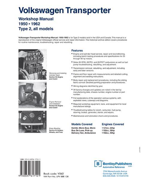 Back Cover Vw Volkswagen Repair Manual Transporter