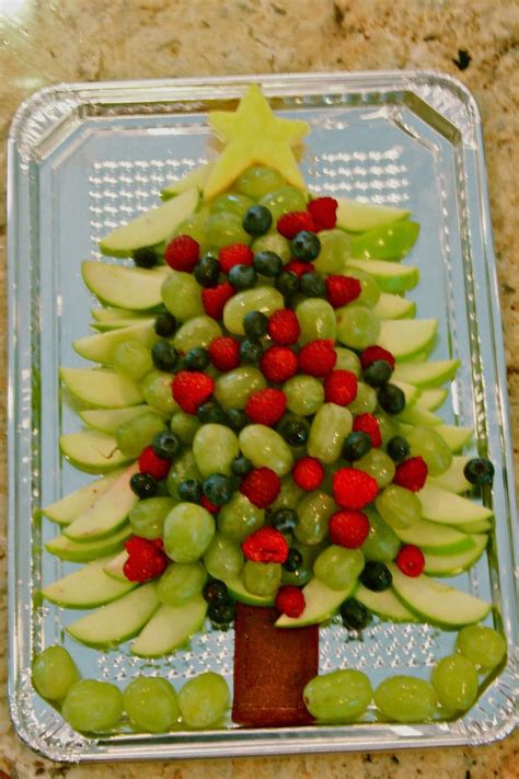 fruits for christmas party healthy tree appetizer fruit winter holidays new year