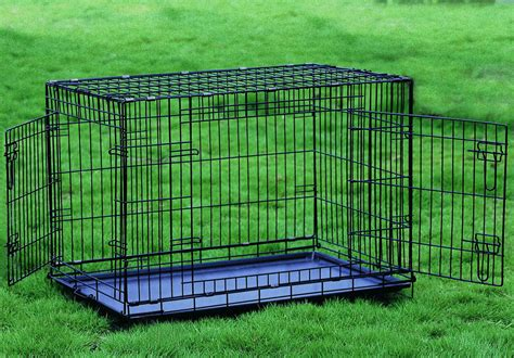 large crate dimensions everila folding 2 door crate cat cage pet kennel 5 sizes small medium large ebay